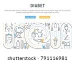 line illustration of diabet.... | Shutterstock .eps vector #791116981