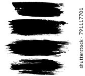 grunge ink brush strokes.... | Shutterstock .eps vector #791117701