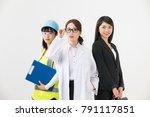 group of various job woman.  | Shutterstock . vector #791117851
