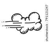 strong winds blowing rain... | Shutterstock .eps vector #791121247