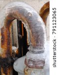 Pretty Curved Rusty Metal Pipe...