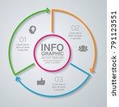 vector infographic template for ... | Shutterstock .eps vector #791123551
