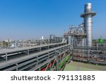 natural gas combined cycle... | Shutterstock . vector #791131885