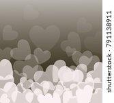 love red hearts | Shutterstock .eps vector #791138911
