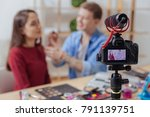 visage lessons. experienced...   Shutterstock . vector #791139751