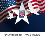 martin luther king day. vector... | Shutterstock .eps vector #791140309