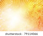 Grunge Yellow Background Sun