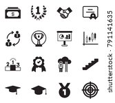 solid black vector icon set  ... | Shutterstock .eps vector #791141635