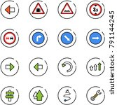 line vector icon set   left... | Shutterstock .eps vector #791144245