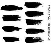 grunge ink brush strokes.... | Shutterstock .eps vector #791146411
