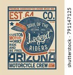vintage style tee print design... | Shutterstock .eps vector #791147125