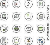 line vector icon set   passport ... | Shutterstock .eps vector #791147341