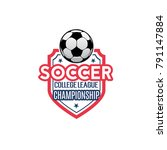 soccer championship icon for... | Shutterstock .eps vector #791147884