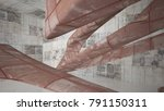 empty smooth abstract room... | Shutterstock . vector #791150311