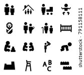 origami style icon set   man... | Shutterstock .eps vector #791158111