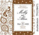 wedding invitation  thank you... | Shutterstock .eps vector #791158471