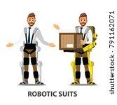 robotics suit character   vector | Shutterstock .eps vector #791162071