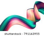 3d render abstract background.... | Shutterstock . vector #791163955