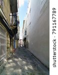 narrow cobblestone street very... | Shutterstock . vector #791167789