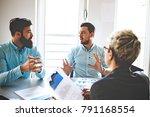 creative business team working... | Shutterstock . vector #791168554