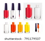 set of colorful nail polish... | Shutterstock .eps vector #791179537