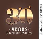30 years anniversary vector...   Shutterstock .eps vector #791184949