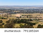 View of the regional country city of Bathurst from the famous Mount Panorama home of Australia