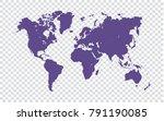 world map   violet map of world ... | Shutterstock .eps vector #791190085