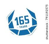 165 years design template.... | Shutterstock .eps vector #791192575