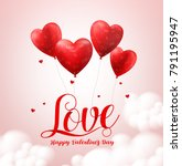 love typography text with... | Shutterstock .eps vector #791195947