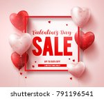 valentines day sale text banner ... | Shutterstock .eps vector #791196541