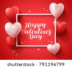 happy valentines day banner... | Shutterstock .eps vector #791196799