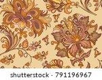 beautiful seamless vintage... | Shutterstock .eps vector #791196967