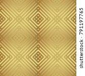 gold metallic regular seamless...   Shutterstock . vector #791197765
