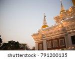 tower bhudda of asian on sunset | Shutterstock . vector #791200135