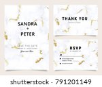 marble wedding invitations... | Shutterstock .eps vector #791201149