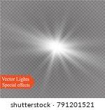 white glowing light burst... | Shutterstock .eps vector #791201521