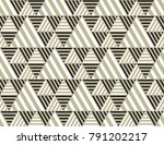 Stock vector triangle geometry backdrop with stripes for web and print black white and beige color geometric 791202217