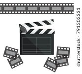 clapperboard isolated on...   Shutterstock .eps vector #791202331