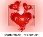 valentine's day background with ... | Shutterstock .eps vector #791205004