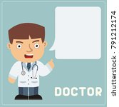 isolated strict doctor with... | Shutterstock .eps vector #791212174