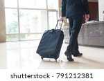 business trip at a hotel lobby | Shutterstock . vector #791212381