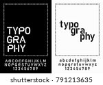 modern alphabet fonts and... | Shutterstock .eps vector #791213635