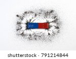 red and blue bar magnet or... | Shutterstock . vector #791214844