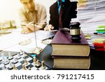 business lawyer working about...   Shutterstock . vector #791217415