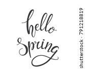hello spring hand drawn... | Shutterstock .eps vector #791218819
