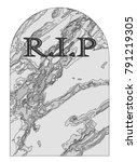 a typical gravestone with the... | Shutterstock .eps vector #791219305