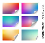 set of templates of pages with...   Shutterstock .eps vector #791219611