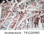 shredding document  shredding... | Shutterstock . vector #791220985