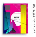 cover design template with...   Shutterstock .eps vector #791221309